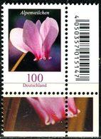BRD - Michel 3365 ECKE REU - ** Postfrisch (I) - 100C   Blumen, Alpenveilchen - Ausgabe: 01.03.2018 - [7] West-Duitsland