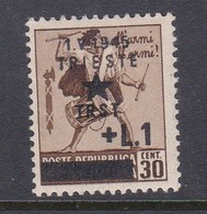 Venezia Giulia And Istria 1945 Yugoslav Trieste Occupation S3 1l On 30c Brown Mint Hinged - Yugoslavian Occ.: Trieste
