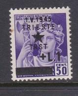 Venezia Giulia And Istria 1945 Yugoslav Trieste Occupation S4 1l On 50c Mint Hinged - Yugoslavian Occ.: Trieste
