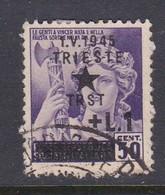 Venezia Giulia And Istria 1945 Yugoslav Trieste Occupation S4 1l On 50c Used - Yugoslavian Occ.: Trieste