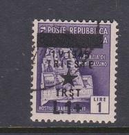Venezia Giulia And Istria 1945 Yugoslav Trieste Occupation S6 1l On 1lira Violet Used - Yugoslavian Occ.: Trieste