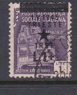 Venezia Giulia And Istria 1945 Yugoslav Trieste Occupation S6 1l On 1lira Violet Used Overprinted Shifted Up - Yugoslavian Occ.: Trieste