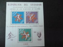 EQUADOR SG XXXX 1968 MS - Equateur