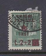 Venezia Giulia And Istria 1945 Yugoslav Trieste Occupation S7 2 Lire+ 2 Lire On 25c Used - Yugoslavian Occ.: Trieste
