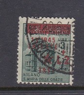 Venezia Giulia And Istria 1945 Yugoslav Trieste Occupation S8 2 Lire On 3 Lire Green Used - Yugoslavian Occ.: Trieste