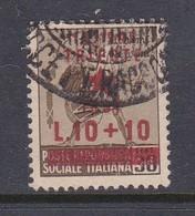 Venezia Giulia And Istria 1945 Yugoslav Trieste Occupation S10 0 Lire + 10 Lire On 30c Brown Used - Yugoslavian Occ.: Trieste