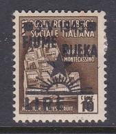 Venezia Giulia And Istria  Fiume Rijeka S17 1945 6 Lire On 10c Brown Mint Hinged - Occ. Yougoslave: Fiume