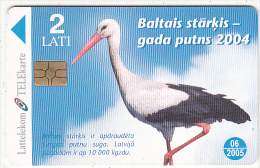 LATVIA - Bird, Chip GEM3.3, Tirage %80000, Exp.date 06/05, Used - Latvia