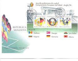 1994. Moldova, European Soccer Cup'1994, FDC, Mint/** - Moldavië