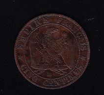 FRANCE KM 777.2, 5ct, 1856BB. (7P19) - France