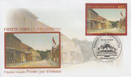 Enveloppe  FDC  1er  Jour  POLYNESIE   PAPEETE  D' Hier  Et  Aujourd'hui   2007 - FDC