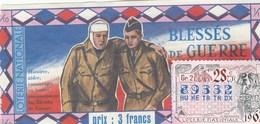 LOTERIE NATIONALE.. BLESSES DE GUERRE..1967 - Biglietti Della Lotteria