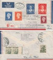 Netherlands Indies  1948   Java  Registered  Cover To Maritius   #  08318   D  Inde Indien - Netherlands Indies