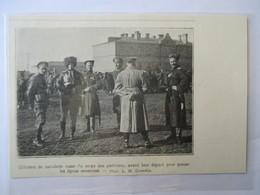 """1916 -France - Officiers Cavalerie Cosaque Russe Du """"Corps Des Partisants"""" - Coupure De Presse Originale (Encart Photo) - Documents Historiques"""