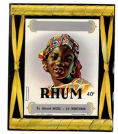 ETIQUETTE ALCOOL RHUM ETS EDMOND MICHEL A FRONTIGNAN 34 - Rhum