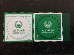 UAE 2018 Dubai Police MNH Stamp Set Anniversary - Verenigde Arabische Emiraten