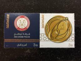 UAE 2018 Abu Dhabi Police MNH Stamp Set 60th Anniversary - Verenigde Arabische Emiraten