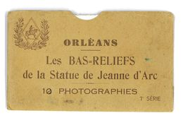 POCHETTE DE 10 PHOTOS ORLEANS LES BAS-RELIEFS DE LA STATUE DE JEANNE D'ARC - Vieux Papiers