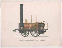 PUBLICITE LABORATOIRES ROUSSEL PARIS - EMA 1962 POUR PHARMACIE A ROUBAIX - ILLUSTRATION LOCOMOTIVE STEPHENSON 1830 - Chemin De Fer