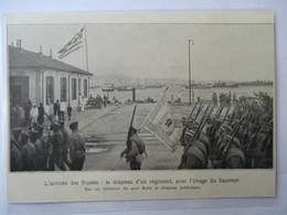 1916 -  Thessaloniki Salonique - Les Troupes Russes   - Coupure De Presse Originale (Encart Photo) - Historical Documents