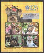 L401 ST.VINCENT FAUNA PETS DOGS YORKSHIRE TERRIER 1KB MNH - Dogs