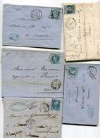 COTE D OR De NUITS COTE D OR GC 2706 Sur N°22 29 Et 60 Sur 5 LAC - 1849-1876: Classic Period