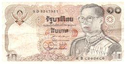 Billets > Thaïlande  > Année  ??  > Valeur 10 - Tailandia