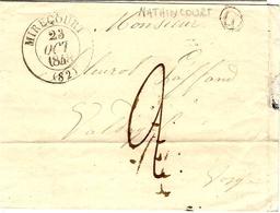 1848- Lettre De MIRECOURT ( Vosges ) Cad T 13  + G Boite Rurale De  Nathincourt - Postmark Collection (Covers)