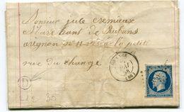 VAUCLUSE De ORANGE PC 2330  Sur N°14 Sur LAC Du 26/05/1858 Avec Boîte Rurale D Non Identifiée - Marcophilie (Lettres)