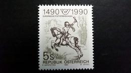 Österreich 1978 **/mnh, Der Kleine Postreiter (Detail); Stich Von Albrecht Dürer (1471-1528) - 1945-.... 2ème République