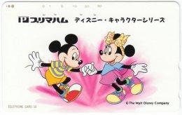 JAPAN G-658 Magnetic NTT [110-813] - Walt Disney, Mouse Family - Used - Japan