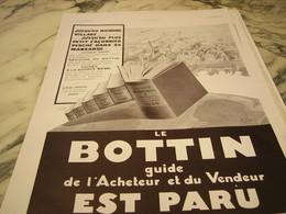 ANCIENNE PUBLICITE ANNUAIRE BOTTIN 1930 - Publicidad