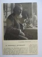 1916 - Institut Pasteur  - Mort Du Professeur Russe Ilya  Metchnikov  - Coupure De Presse Originale (Encart Photo) - Documents Historiques