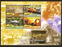 Papouasie Papua New Guinea 2008 Yvert  1247-1250 *** MNH Cote 13,50 Euro Mines D'or Mining - Papouasie-Nouvelle-Guinée