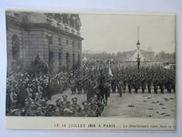 Juillet 1916 - Paris Rue Royale   -  Défilé Du Détachement Russe     - Coupure De Presse Originale (Encart Photo) - Documents Historiques
