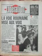 Libération 19/20 Mai 1990 - Elections Libres Roumanie - Allemagne Unification - Festival Cannes - Robert Wurtz - 1950 à Nos Jours