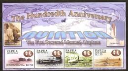 Papouasie Papua New Guinea 2003 Yvert 947-50 Et Bloc 26 *** MNH Cote 20 Euro Wright - Papouasie-Nouvelle-Guinée