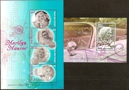Papouasie Papua New Guinea 2008 Yvert 1227-1230 Et Bloc 49  *** MNH Cote 21,85 Euro Marilyn Monroe - Papua-Neuguinea