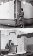 Paris Salon De L'Equipement Hotelier Cabine Hotelliere Mobile Ancienne Photo De Presse 1956 - Places