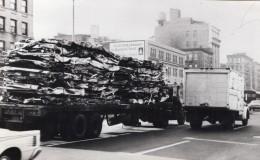 USA New York Transport De Voitures Ferraille Ancienne Photo De Presse 1960's - Cars
