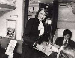 Jeune Hotesse De L'Air Rhona Hutchinson Vol British Airways Ancienne Photo De Presse 1975 - Professions