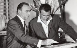 France Paul Ricard Et A. Gautier Directeur De Bureau D'Etudes Ancienne Photo 1970's - Famous People