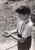 France Recolte De Colza Agriculture Jeune Garcon Ancienne Photo De Presse Trampus 1943 - Professions