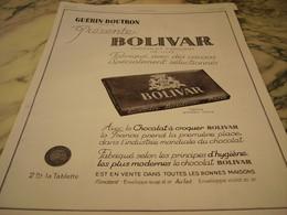 ANCIENNE PUBLICITE CHOCOLAT GUERIN BOUTRON BOLIVAR 1929 - Affiches