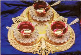 ISTAMBUL -TOPKAPI - COMPOTE SERNICE OF GOLD - Turchia