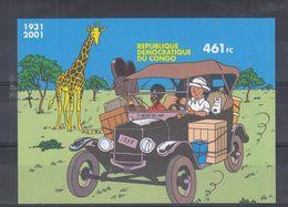 Bandes Dessinées - Tintin - République  Du Congo - COB BF 205 A ** -  NON Dentelé - Giraffe  - Valeur 60 € - Comics