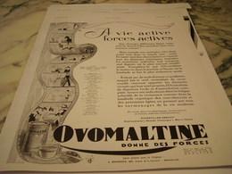 ANCIENNE PUBLICITE ALIMENT COMPLET OVOMALTINE 1930 - Posters
