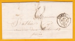 1849 -  Lettre Avec Correspondance Commerciale De Pontoise Vers Paris, France - 1849-1876: Klassieke Periode