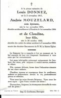 Bastogne Nandrin SM Louis Donnez Andrée Mouzelard Et Claudine Décédés Accident Nandrin 2 Novembre 1964 - Bastogne