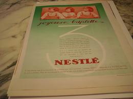 ANCIENNE PUBLICITE JOYEUSE TRIPLETTE  NESTLE - Posters